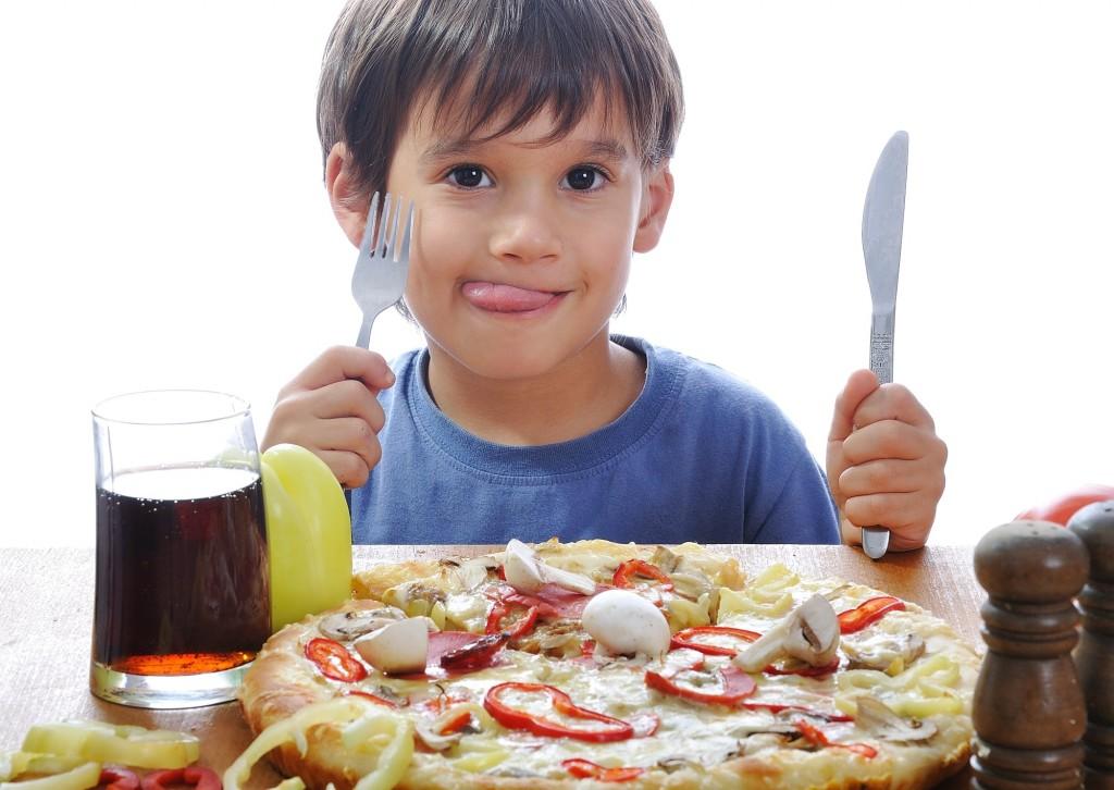 menu pizza enfant